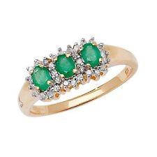 Markenloser Echtschmuck aus Gelbgold mit Diamanten Ringe