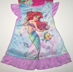 Doll - Disney Ariel Little Mermaid Princess Nightgown New     Fits 18 inch Doll