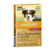 Advocate Flea, Heartworm & Worm Treatment for Dog 10-25Kg  - 6 Pieces