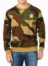 New G-Star Raw Reqal Stalt Camo Green Crew Neck Pullover Sweater Sweatshirt XXL
