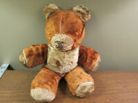 "Vintage well loved teddy bear 1950s Gund ? 12"""