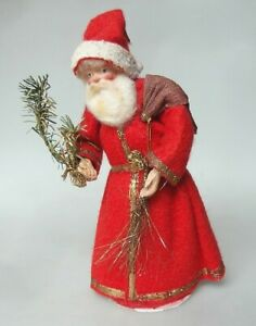 Weihnachtsmann Candy Container Uralt Figur 1930 Tisch Hohlkörper Weihnachten