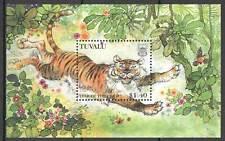 E0078 1998 TUVALU FAUNA ANIMALS LUNAR CALENDAR YEAR OF THE TIGER BL MNH