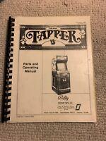 Original Tapper  Midway Arcade Video game manual