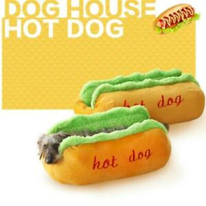 Novelty Dog Bed - Hot Dog Design - Cozy and Cute