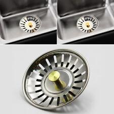 Stainless Steel Kitchen Sink Strainer Waste Plug Drain Stopper Filter Basket