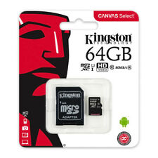 Kingston 64GB Micro SD Memory Card 64G SDHC Class 10 UHS-I TF w/ SD Adapter