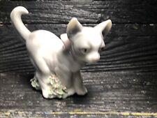 Vintage Lladro Figurine Kitten On Patrol 6568 Spain Daisa 1998 Retired