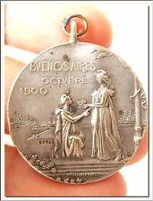 ART NOUVEAU 1900 ARGENTINIAN MEDAL - VISIT of CAMPOS SALLES BRAZILIAN PRESIDENT