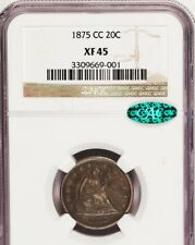 1875-CC 20C XF45 NGC/CAC - Seated Liberty
