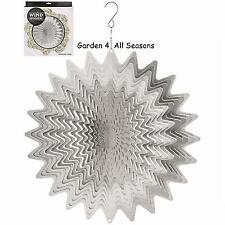 "12""/30cm SILVER WHIRL Stainless Steel Wind Spinner Sun Catcher Hook Garden Gift"