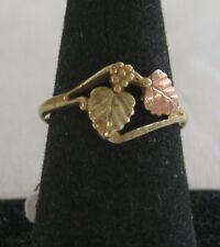 Vintage 10k GOLD Black Hills Gold RING Leaves Design 1.8 grams Size 8 1/2