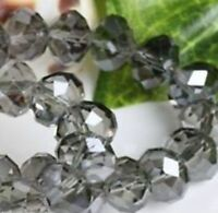 Wholesale Faceted Gray Rondelle glass crystal beads 3*4mm 298pcs