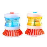 Soap Dispensing Brush Kitchen Washing Brush For Dish Pot Pan Utensil Cleaning
