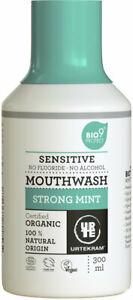 (26,63/L) Urtekram Mundspülung Strong Mint sensitive fluoridfrei vegan 300 ml
