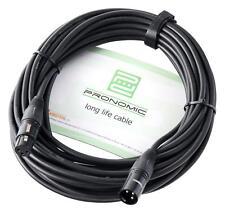 Profi DJ PA Mikrofon Kabel 10m Mikro Mic Patch Cable XLR Male Female schwarz