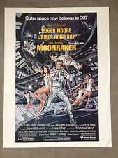 Moonraker 1979 James Bond 007 Roger Moore Original Movie Poster Daniel Goozee