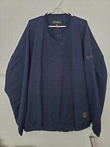 Footjoy Men's Size XXL Navy Blue Long Sleeve Performance Windshirt Golf Pullover