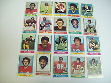 1974 FOOTBALL LOT OF  CARDS - 64 STARS, ROOKIES, TEAM CHECKLISTS