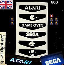 PS4 Controller Light Bar Vinyl Sticker 6x Atari Sega Pac-man Mario . Old School