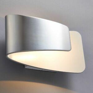 ENDON Jenkins 7.5W LED Wall Light Polished Aluminium & Matt White 678LM 61031