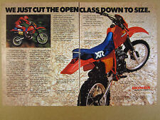 1983 Honda XR350R XR 350R Motorcycle color photo vintage print Ad
