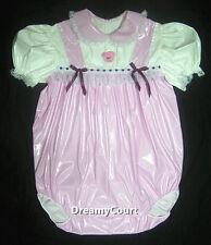 ADULT SISSY BABY GIRL BUBBLE BABY PINK PVC ROMPER NIGHT SLEEPER 01