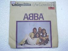 ABBA CHIQITITA C/W LOVELIGHT rare SINGLE ps store sticker INDIA INDIAN ex