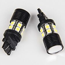 2X 3157/3156 Xenon White High Power 7W Back Up Reverse Projector LED Light Bulbs