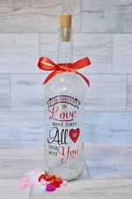 Valentine Gift, Love, Wine Bottle Light, Decorative Wine Bottle, Anniversary