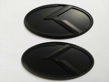 Black K Logo Emblem Badge 2pcs/set(Front+Rear) for KIA new Forte YD K3 2014 2015