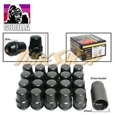 20 ALL LOCK GORILLA BULGE ACORN WHEELS RIMS LUG NUTS 12X1.5 12 1.5 BLACK CLOSE U