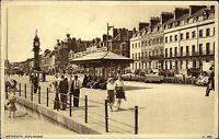 Weymouth Dorset vintage postcard ~1950/60 Esplanade Straßenpartie Promenade