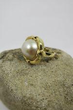 Ring mit Mabeperle 585 / 14k Gold - Damenring Mabe Perle - Handarbeit