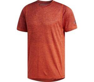 Men's Adidas T-Shirt FreeLift Running Top - Fitness Gym Training - Orange
