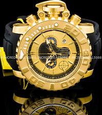 Invicta Men Marvel PUNISHER Sea Hunter Swiss Chrono 18Kt Gold Black Ltd Ed Watch