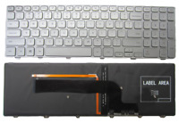 Backlit Keyboard for Dell Inspiron 15 7537 7000 P36F Laptop Silver