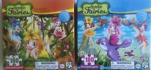 Sparkle Fairies Forest Fairies 100 Piece Jigsaw Puzzle x2 Glitter Effect Pieces