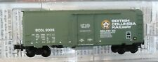 Z scale Micro-Trains 40' Box Car British Columbia Railway 80006 - 50200162