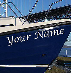3 x Boat Name Vinyl Stickers Graphics Decals Narrow Boat Speed Jet ski
