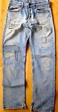 """Vintage 70s Levis 501 Hippy Patch Work Jeans 31"""""""