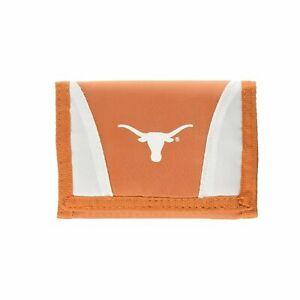 NEW Football League Licensed NCAA Texas Longhorns Nylon Tri-Fold Chamber Wallet