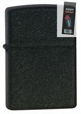 Zippo 236 black crackle cigar Lighter + FLINT PACK