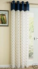Sloane Faux Silk Eyelet Ring Top Voile Net Muslin Panel Curtain Ready Made