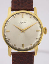 ALPINA  DESIGN 18 KARAT HERREN-ARMBANDUHR ca. 1950er JAHREN - SEHR SELTEN