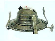 """ANTIQUE FINISH No.2 Oil Kerosene LAMP BURNER Holds 3"""" Chimney-w/ WICK & COLLAR"""