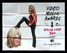BRITNEY SPEARS * CineMasterpieces SUBWAY ORIGINAL POSTER MTV MUSIC AWARDS 2003