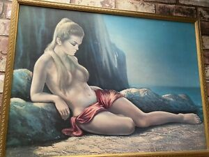 **Original** framed J H Lynch 'ZENA' Tretchikoff era vintage
