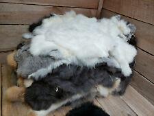 Assorted Natural Rabbit Hide Pelt Fur Skin 10 skins to a bundle