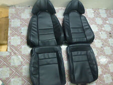 1993.5-1996 Toyota Supra MK4 / MKIV Synthetic Leather Seat Covers Black 2+2